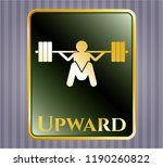 shiny badge with deep squat... | Shutterstock .eps vector #1190260822