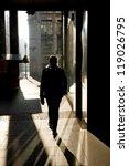 silhouette of a man walking on... | Shutterstock . vector #119026795