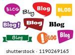 speech bubble blog icons social ... | Shutterstock .eps vector #1190269165