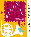 acoustic festival. the musical...   Shutterstock .eps vector #1190270092