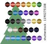 isolated christmas ornament 33... | Shutterstock .eps vector #1190275108