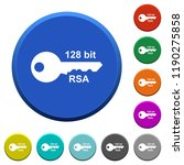 128 bit rsa encryption round...   Shutterstock .eps vector #1190275858
