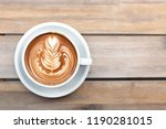 a beautiful cup of cappuccino... | Shutterstock . vector #1190281015