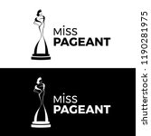 miss  pageant logo with black... | Shutterstock .eps vector #1190281975