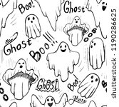 pattern with whisper ghost hand ... | Shutterstock .eps vector #1190286625