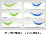 wavy business design elements | Shutterstock .eps vector #119028862