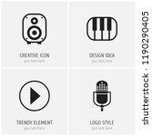 set of 4 editable media icons....