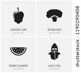 set of 4 editable cooking icons.... | Shutterstock .eps vector #1190290408