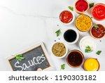 set of different sauces  ... | Shutterstock . vector #1190303182