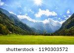 alpine valley logarska dolina ...   Shutterstock . vector #1190303572