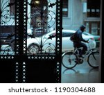 bicycle passing by in the...   Shutterstock . vector #1190304688