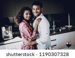 afro american couple is hanging ... | Shutterstock . vector #1190307328
