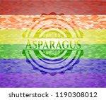 asparagus lgbt colors emblem  | Shutterstock .eps vector #1190308012