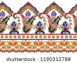 seamless bright border with... | Shutterstock .eps vector #1190312788