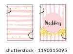 bridal shower card with dots... | Shutterstock .eps vector #1190315095