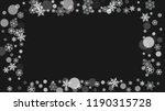 snowflake border for christmas...   Shutterstock .eps vector #1190315728