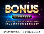 welcome bonus casino banner... | Shutterstock .eps vector #1190316115