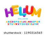 party balloons style font... | Shutterstock .eps vector #1190316565