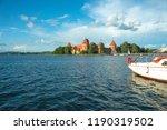 trakai island castle at the lake | Shutterstock . vector #1190319502