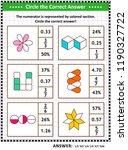 math skills training visual... | Shutterstock .eps vector #1190327722