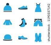 garment icons colored set with... | Shutterstock .eps vector #1190337142