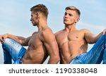 sexy torso attractive body... | Shutterstock . vector #1190338048