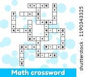 math educational game for... | Shutterstock .eps vector #1190343325