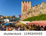 ponferrada  spain. circa... | Shutterstock . vector #1190345455