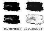 set of brush stroke and... | Shutterstock . vector #1190350375