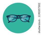 glasses vector flat icon | Shutterstock .eps vector #1190357302