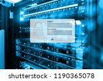 server room  login and password ... | Shutterstock . vector #1190365078