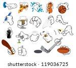 Cartoon Hand Gestures   Vector...