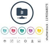 ftp compression flat color...   Shutterstock .eps vector #1190368075