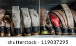 Old Fire Hoses Placed In A...