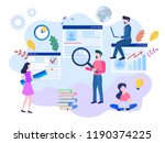 vector illustration  flat style ... | Shutterstock .eps vector #1190374225
