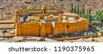 the medieval citadel is the... | Shutterstock . vector #1190375965