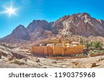 panorama of the ancient st... | Shutterstock . vector #1190375968