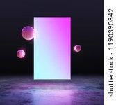neon frame background. led... | Shutterstock . vector #1190390842