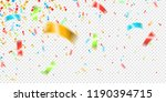 colorful falling confetti on... | Shutterstock .eps vector #1190394715