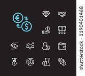 economy icons set. time money...