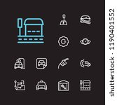 service icons set. bus stop and ...