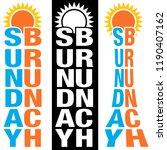 an image of a sunday brunch sun ... | Shutterstock .eps vector #1190407162