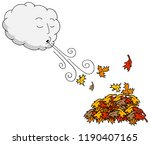 an image of a windy day blowing ... | Shutterstock .eps vector #1190407165