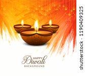beautiful happy diwali... | Shutterstock .eps vector #1190409325