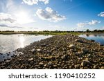 a view of the lake from the... | Shutterstock . vector #1190410252