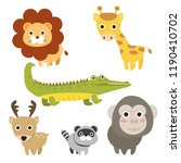 set cute animal cartoons...   Shutterstock .eps vector #1190410702