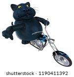 fun cat   3d illustration | Shutterstock . vector #1190411392