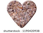 heart made of seashells... | Shutterstock . vector #1190420938