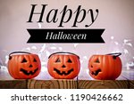 happy halloween pumpkin party | Shutterstock . vector #1190426662