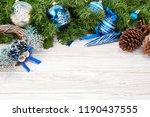 Christmas Fir Tree Balls Blue...